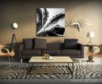 Black-abstract-wall-art-decor-60x60-sm (печать на холсте, планшет или в рамке)