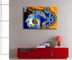 Fractal-Blue-Yellow-Spiral-Pattern-3-Piece-Painting-On-Canvas-Wall-Art-Picture-Print-Abstract_80x125_cm