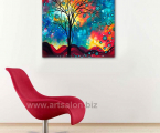 Tree-abstraction-size-60x60-cm