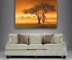 Africa-Sunset-woman-Landscape-60x80-sm
