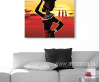 Africa-woman-print-canvas-60x60-sm