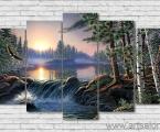 Modulnaya-kartina-krasivaya-priroda-letyashiy-orel-vodopad-100x170-sm