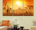 Wild cats, size 80x150 cm