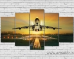 Aircraft on the runway, size 100x170 cm. цена 35 у.е.