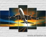 Boeing 777 night flight, size 100x170 cm. Цена 35 у.е.