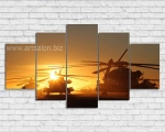 Military helicopters, size 90x170 cm