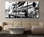 Black-and-white-wall-art-Bike-modular-picture