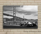 Golden gate bridge and sports car