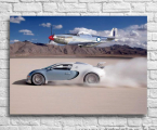 Poster Bugatti and airplane-69x80-sm