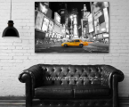 poster yellow taxi New York interior loft