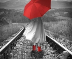 Girl-red-umbrella