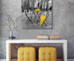 Jeltiy-zont-i-buket-ros-black-and-color-50x50-cm