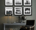 Wall-art-decor-modern-living-black-and-white-framed-wall-art