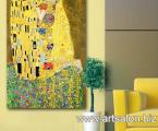 Худ. Густав Климт, Картина поцелуй, размер 60х120-см 35 у.е.