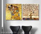 2-Posters-Gustav-Klimt-print-canvas-best-decor-wall-home-art-60x60-sm-2 цена 30 у.е. за два