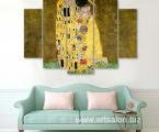 Modulnaya-kartina-Gustav-Klimt-Poseluy-90x130-sm цена 40 у.е. (оплата можно картой в сумах)
