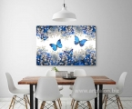 Butterflies and flowers, size 60x100 cm