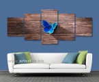 Butterfly on a wooden board_82x200cm. Картина на планшетах, легкий и крепкий материал, толщина 15 мм. цена 40 у.е.