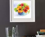 Flowers-watercolor-50x50-sm Печать на акварельной бумаге, имитация настоящей живописи, акварельной картины, цена 15 у.е. (форма оплаты любая)