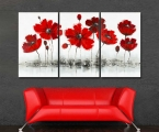 Poppies, the size of 95x180 cm