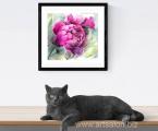 Flowers-peonies-watercolor-50x50-sm Печать на акварельной бумаге, имитация настоящей живописи, акварельной картины, цена 15 у.е. (форма оплаты любая)