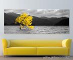 Nature, mountains, sea, wood, size 60x160 cm