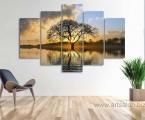 Tree, sunrise, size 100x150 cm цены всех картин зависят от размеров