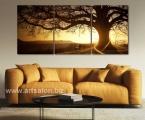 Triptych, tree, bright sun rays, size 70x155 cm. цена 30 у.е.