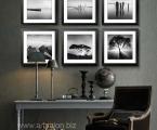 Wall-art-decor-modern-living-black-and-white-framed-wall-art