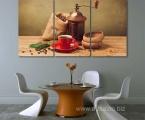 Модульная картина для кофейни 80х150 см 35 у.е.