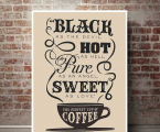Black-hot-coffee-quotes-wall-art-panel