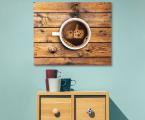 Coffee-art-decor-panel-wood