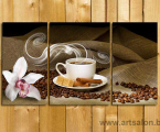 Modulnaya-kartina-kofe-3 paneli