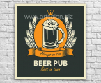 Beer-Pub-panel-wood-modern-art-wall-decor-any-size