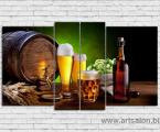 Beer still life, size 100x150 cm