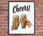 Cheers-poster-any-size