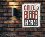 Panel-Cold-beer-Here-wood-print-modern-wall-artdecor