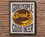 Poster-Frame-wall-art-decor-beer