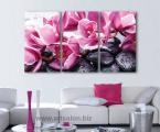 Триптих-орхидеи-камни-60х110-см