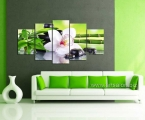 Feng Shui painting, Orchids, bamboo, stones, 80х160 cm