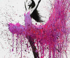 Abstract-dance-woman-print-canvas