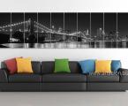 Бруклинский мост, цветной или черно белый, вариант, 70х280 см