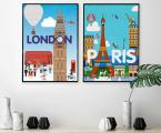 2-posters-London-Paris Размеры постеров любые от А-4 до 65х85 см цена зависит от размеров (Размер 65х85 см тонкая рамка, натуральное дерево, цвет любой, цена 20 у.е.)