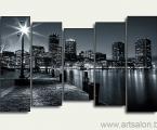 Modular picture night city size 100x150 cm