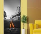 Panel art decor on the wall, Brooklyn Bridge, size 60x170 cm