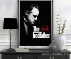 Poster-Godfather-frame-decor-art Постер из фильма Крестный отец, в рамке или как планшет без рамки, материал любой, бумага, холст, печать покрывается защитным лаком, размеры от А-4 до 60х90-см цена зависит от размеров