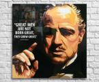 The-Godfather-quotes-Vito-Corleone Постер на планшете под лаком, размер 60х60-см цена 15 $