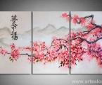 Reproduction of Sakura triptych, size 90x160 cm. Цена 35 у.е.Наши модульные картины сделаны на панелях МДФ они легкие, объемные (толщина 2 см. Они крепкие и безопасные в отличии от картин на стекле (стекло хрупкое, тонкое и тяжелое, картины сильно блестят и имеют дешевый вид, так же стекло это хрупкий и опасный материал) на стекле делают потому что это дешево и быстро (на кусок стекла клеют Китайскую самоклейку) нНши модули делать сложно, нужны специалисты по мебельной работе и станки. Картины на орг стекле и акриле тоже имеют свои минусы, они мутнеют со временем и выделяют вредные вещества в теплое время. Даже самая качественная печать со временем выцветает, она становится бледной, а солнечный свет только ускорит этот процесс, поэтому наши картины покрываются защитным лаком, другие производители после печати делают ламинацию (эта пленка делает картину не резкой и не защищает от солнечного света) Наши картины и фото всегда яркие, резкие не боятся воды и долгие годы будут радовать вас. Из-за отсутствия блеска матовые картины выглядят более сдержанно и очень солидно. (Вот что пишет дизайнер из компании Apple, я больше предпочитаю матовые картины, глянец и стекло категорически не приемлю, мой выбор обусловлен тем, что глянцевые картины дают сильные блики и на них смотришь как в зеркало, где видно помещение и твое изображение, матовые картины можно смотреть независимо от того как и откуда свет падает на нее)