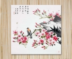 The panel is art decor, sakura, size 60x60 cm