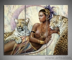 Princess and predators, size 80x110 cm. цена 30 у.е. Картину можно украсить стразами